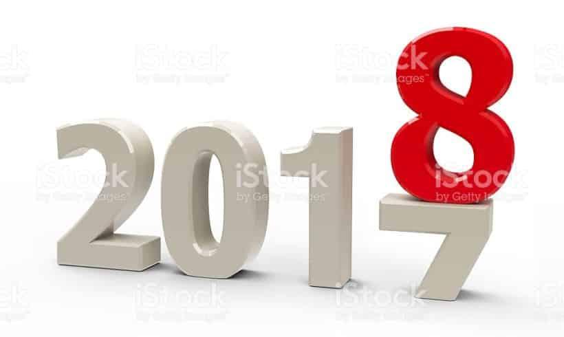 Au revoir 2017, bienvenue 2018 !